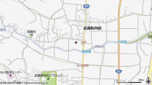 大分県国東市武蔵町内田614周辺の地図