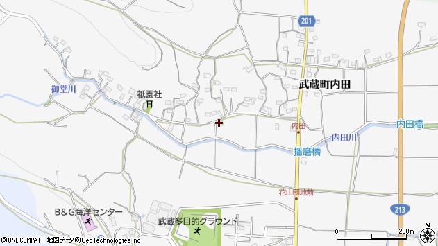 大分県国東市武蔵町内田633周辺の地図
