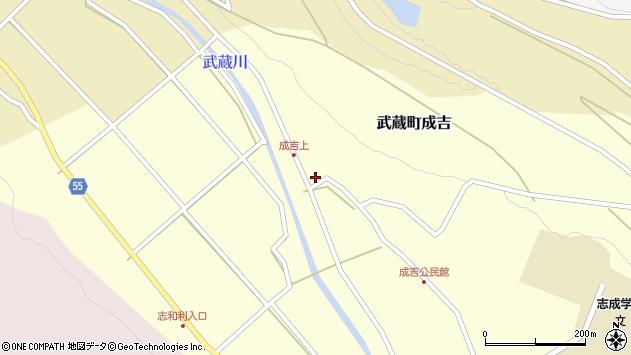 大分県国東市武蔵町成吉605周辺の地図