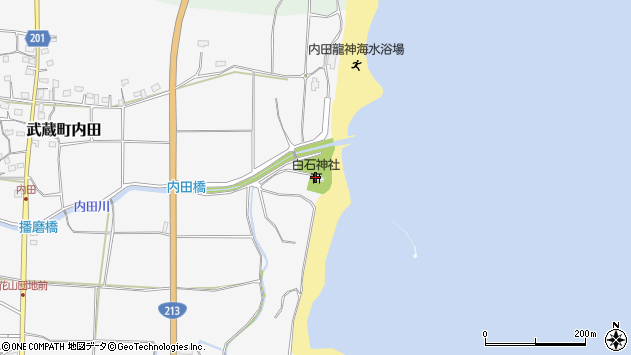 大分県国東市武蔵町内田252周辺の地図