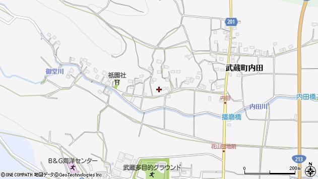 大分県国東市武蔵町内田1615周辺の地図