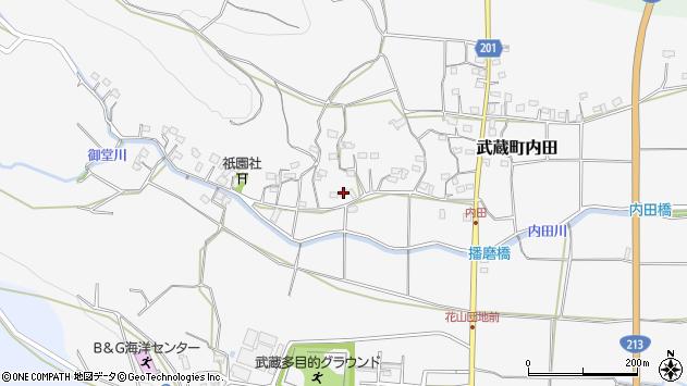 大分県国東市武蔵町内田1637周辺の地図