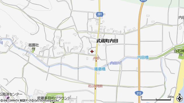 大分県国東市武蔵町内田1677周辺の地図