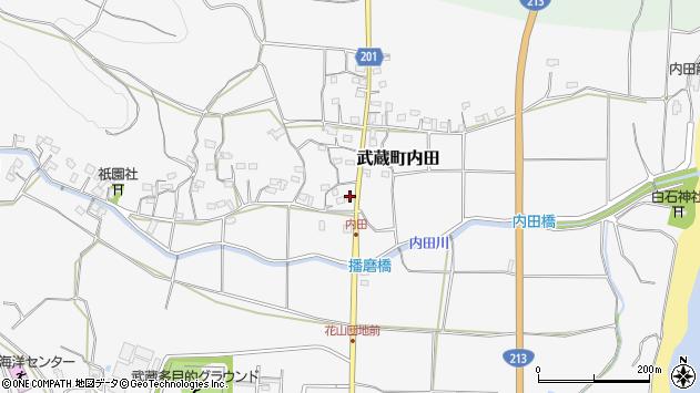 大分県国東市武蔵町内田1681周辺の地図