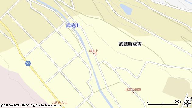 大分県国東市武蔵町成吉611周辺の地図