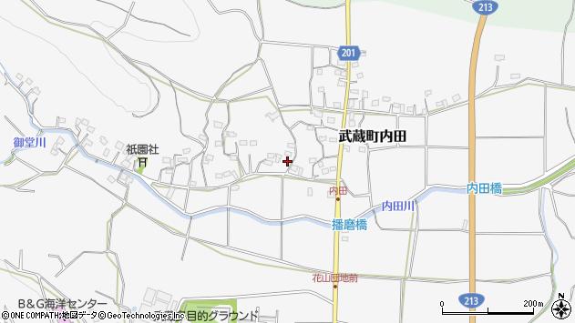 大分県国東市武蔵町内田1647-1周辺の地図