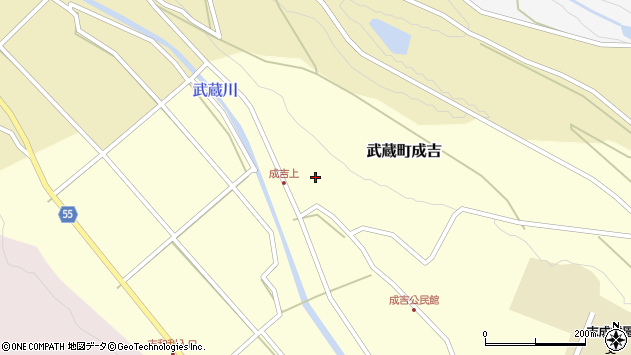 大分県国東市武蔵町成吉607周辺の地図