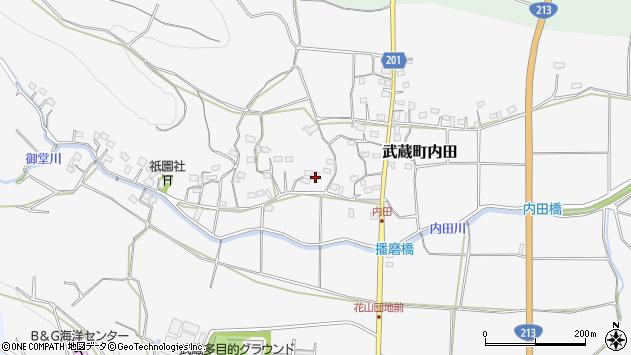大分県国東市武蔵町内田1647周辺の地図