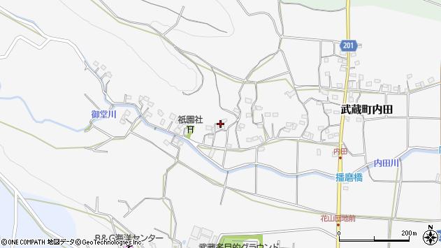 大分県国東市武蔵町内田1577周辺の地図