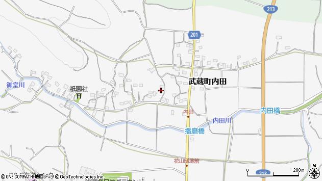 大分県国東市武蔵町内田1648周辺の地図