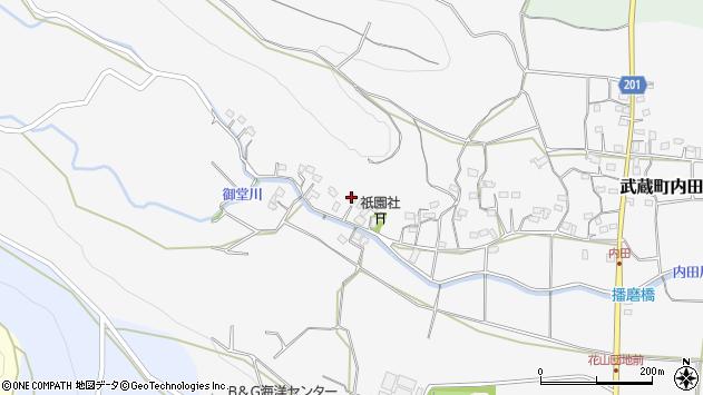 大分県国東市武蔵町内田1550周辺の地図