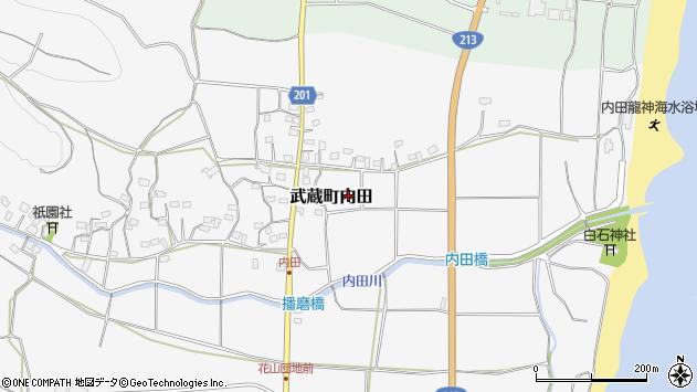 大分県国東市武蔵町内田569周辺の地図