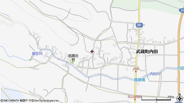 大分県国東市武蔵町内田1596周辺の地図