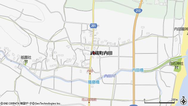 大分県国東市武蔵町内田561周辺の地図