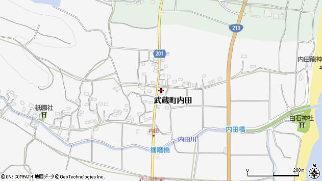 大分県国東市武蔵町内田559周辺の地図
