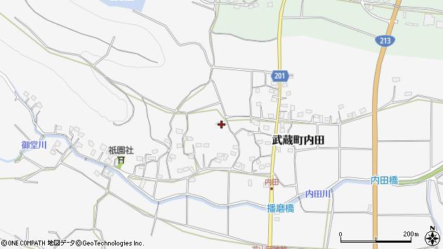 大分県国東市武蔵町内田1659周辺の地図