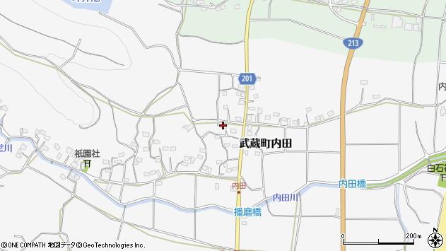大分県国東市武蔵町内田1700周辺の地図