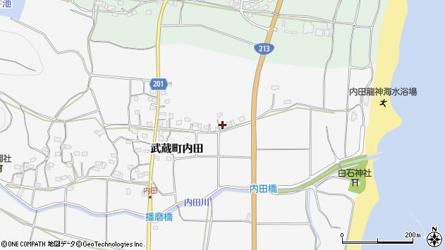 大分県国東市武蔵町内田474周辺の地図