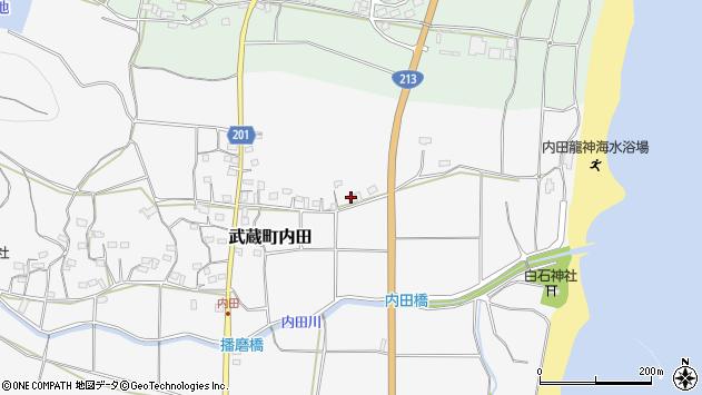 大分県国東市武蔵町内田476周辺の地図