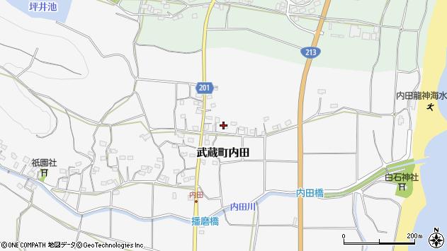 大分県国東市武蔵町内田461周辺の地図