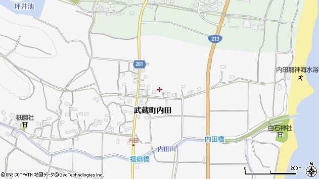 大分県国東市武蔵町内田463周辺の地図