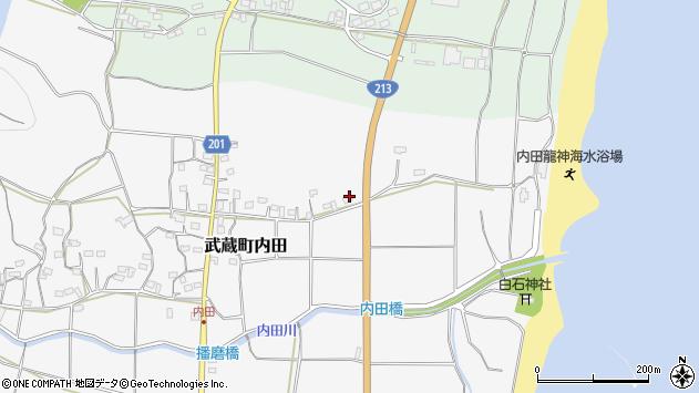 大分県国東市武蔵町内田488周辺の地図