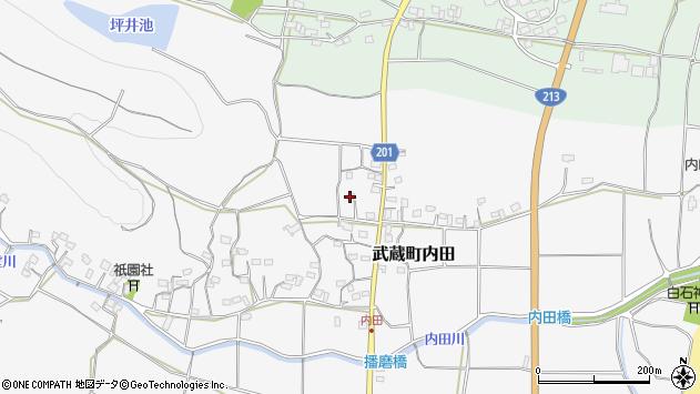 大分県国東市武蔵町内田1708周辺の地図