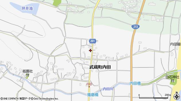 大分県国東市武蔵町内田1711周辺の地図