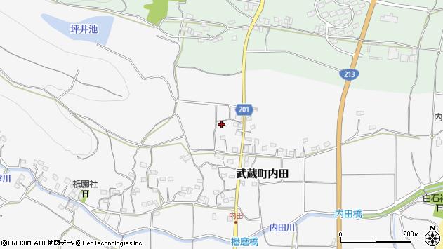 大分県国東市武蔵町内田1727周辺の地図