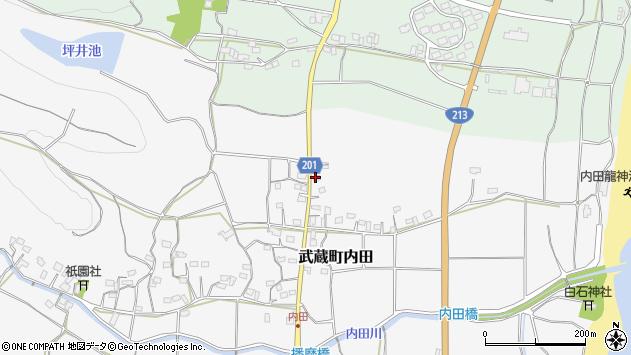 大分県国東市武蔵町内田439周辺の地図