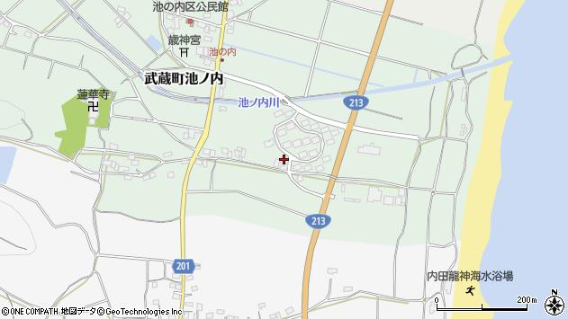 大分県国東市武蔵町池ノ内1765周辺の地図