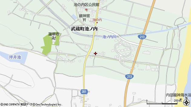 大分県国東市武蔵町池ノ内1751周辺の地図