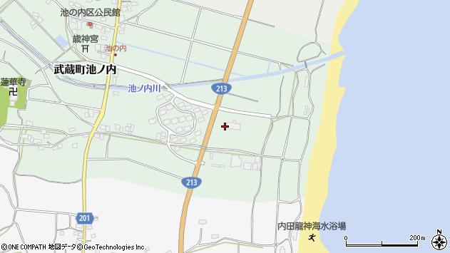 大分県国東市武蔵町池ノ内1780周辺の地図