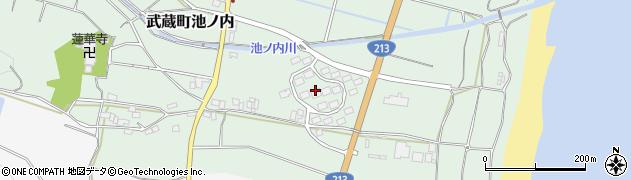 大分県国東市武蔵町池ノ内周辺の地図