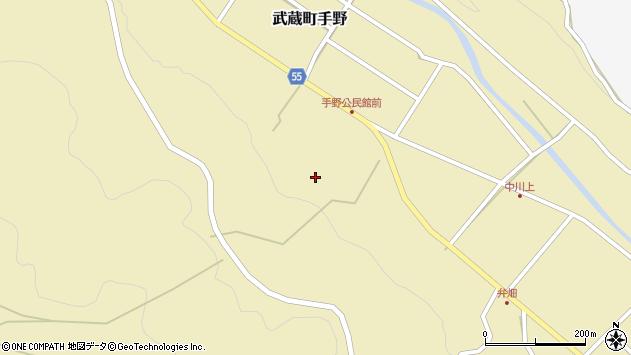 大分県国東市武蔵町手野1745周辺の地図