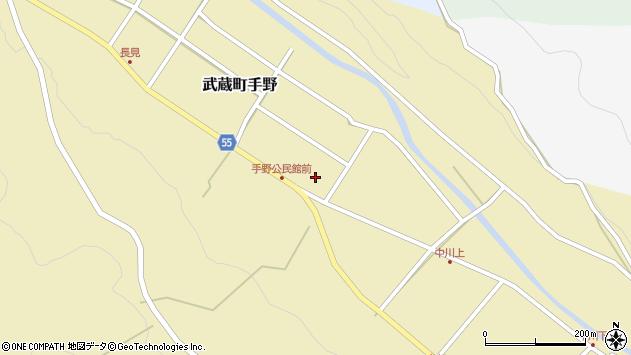 大分県国東市武蔵町手野801周辺の地図