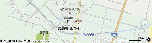 大分県国東市武蔵町池ノ内401周辺の地図