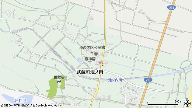 大分県国東市武蔵町池ノ内398周辺の地図