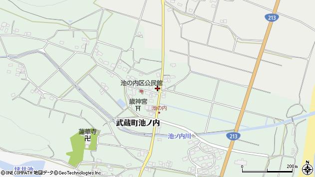 大分県国東市武蔵町池ノ内168周辺の地図