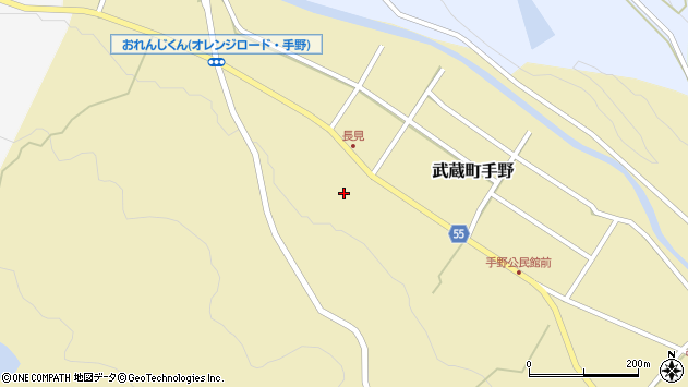 大分県国東市武蔵町手野1453周辺の地図