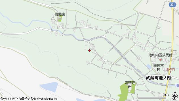 大分県国東市武蔵町池ノ内1178周辺の地図