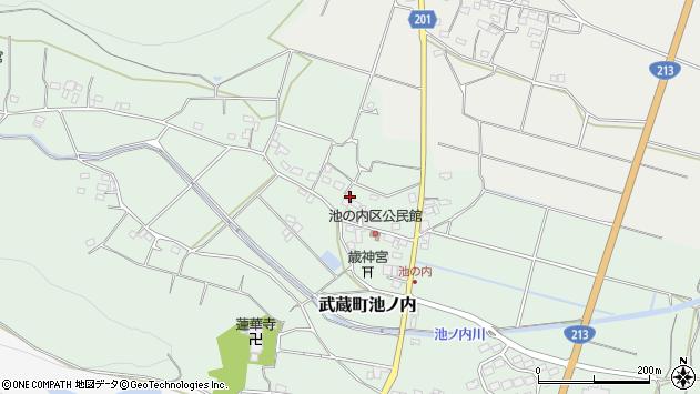 大分県国東市武蔵町池ノ内日向周辺の地図