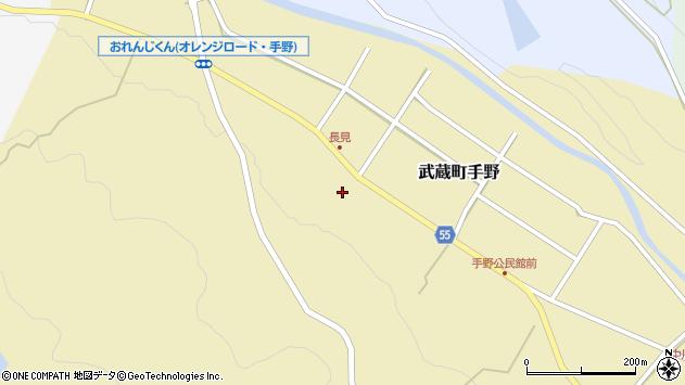 大分県国東市武蔵町手野1447周辺の地図
