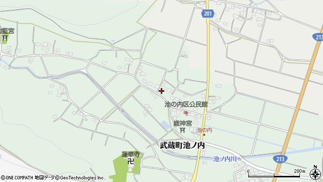 大分県国東市武蔵町池ノ内378周辺の地図