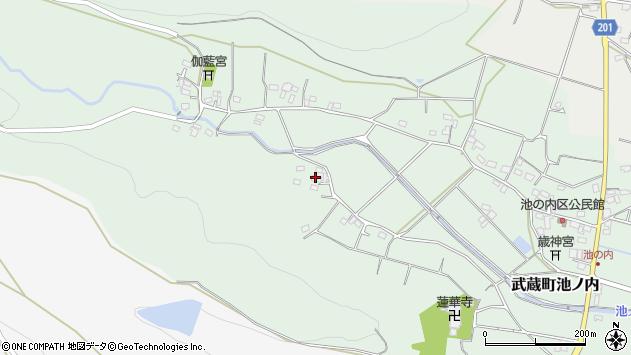 大分県国東市武蔵町池ノ内1177周辺の地図