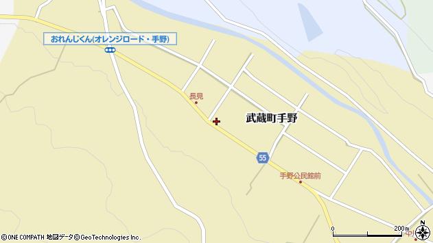 大分県国東市武蔵町手野825周辺の地図