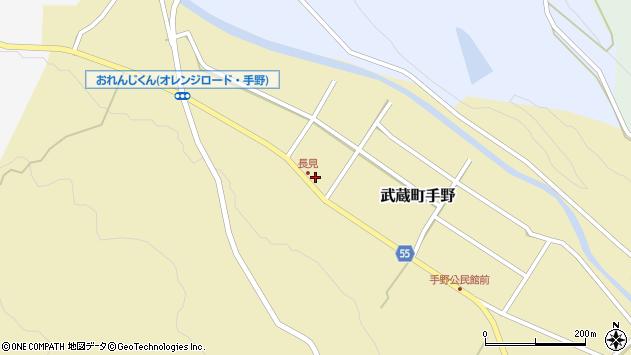 大分県国東市武蔵町手野830周辺の地図
