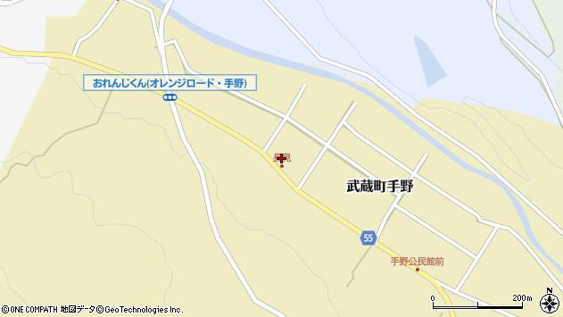 大分県国東市武蔵町手野831周辺の地図