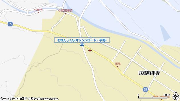 大分県国東市武蔵町手野1140周辺の地図