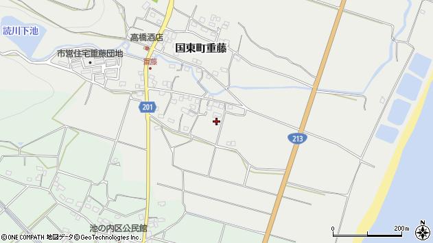 大分県国東市国東町重藤492周辺の地図